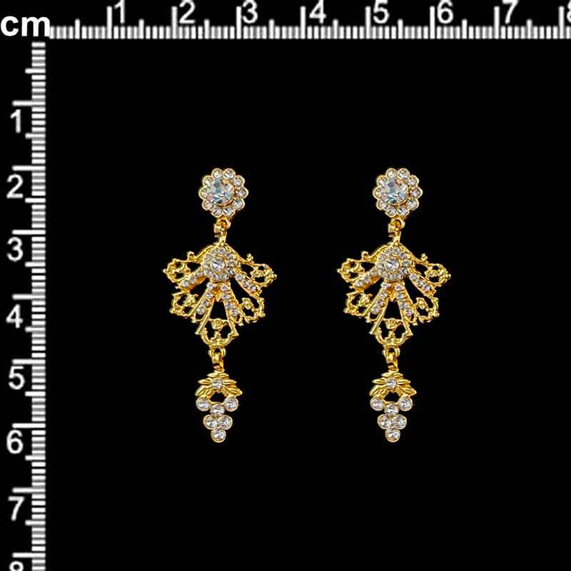Juego pendientes 13161, cristal, oro.