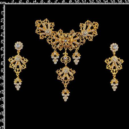 Aderezo huertana 13298, cristal, oro.