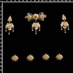 Aderezo fallera 9604, cristal, oro.