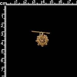 Boton manzaneta 15, gemelo, oro