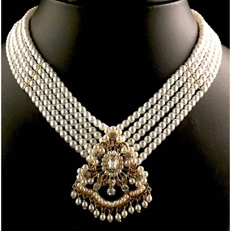 Collar 9123, 1C 5V , cristal, oro.