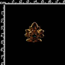 Anillo 2105, esmeralda, oro.