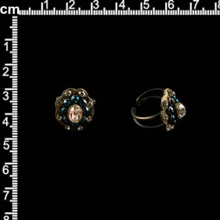 sortija o anillo 240, azul montana, latón óxido