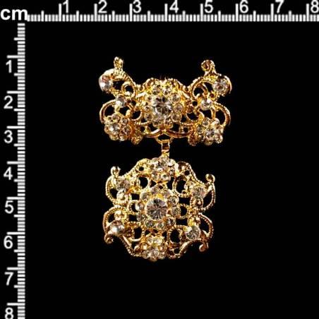 Dije o colgante 2104, cristal, oro.