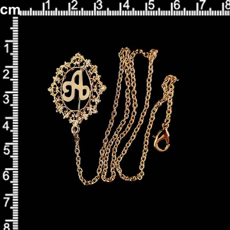 Abaniquero 15 letra, oro