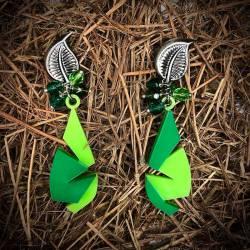 Pendientes lágrimas verdes