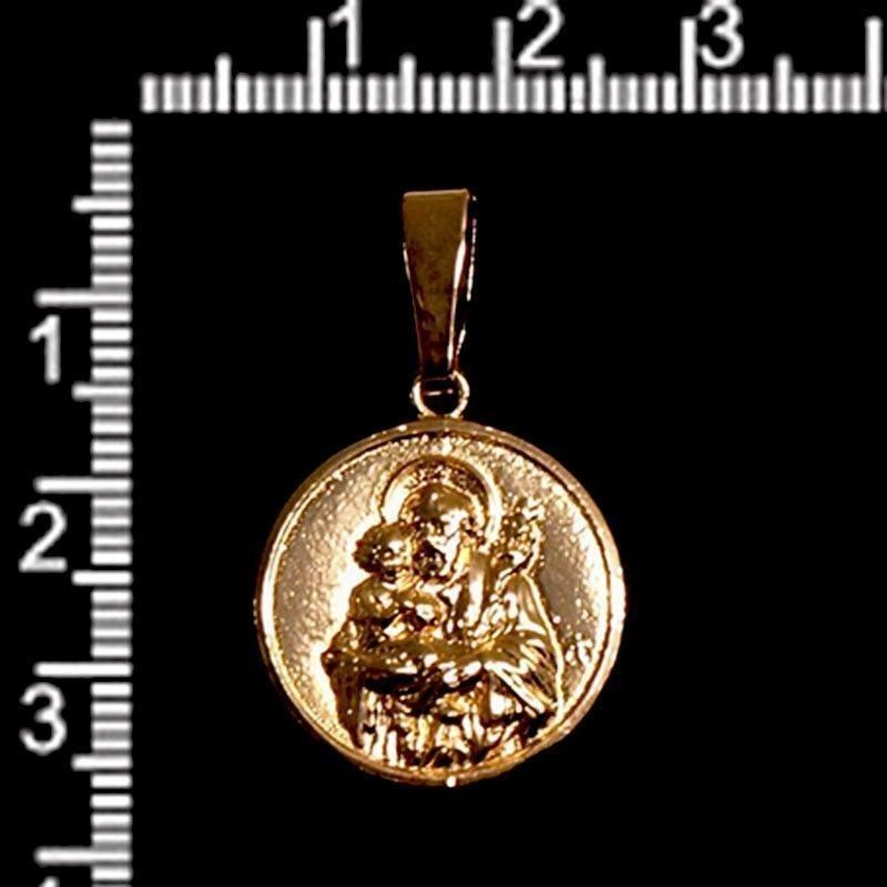 Medalla San José, 20mm, oro.