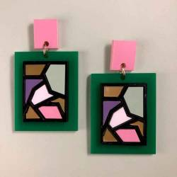 Pendientes Cubismo V Gaman
