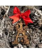 Letra A Navidad