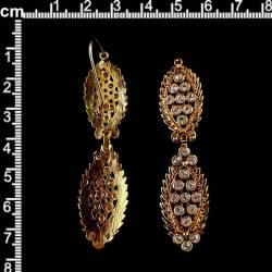 Pendientes 1627, cristal, oro viejo