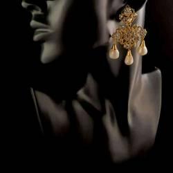 Aderezo fallera 2113, cristal, oro.