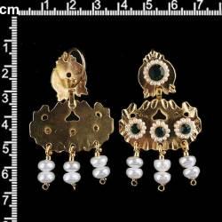 Pendientes 268, esmeralda, oro