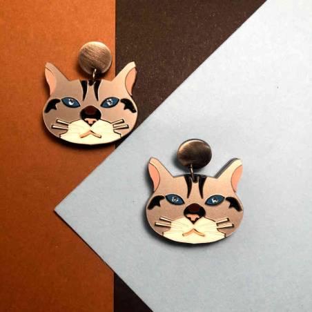 Pendientes Daryl Gaman de gatos