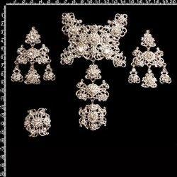 Aderezo de valenciana 2104, cristal, plata.