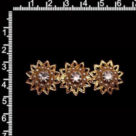Broche de mantilla 1010, cristal, oro.