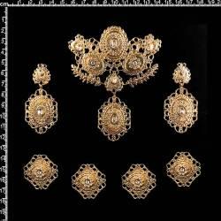 Aderezo alicantina 2338, cristal, oro