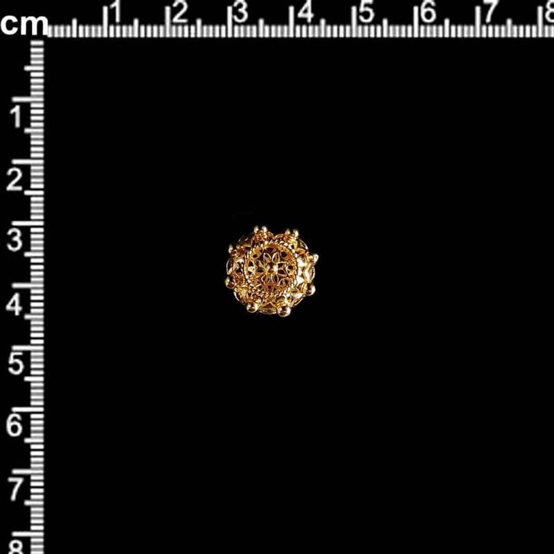Manzaneta 15 mm oro