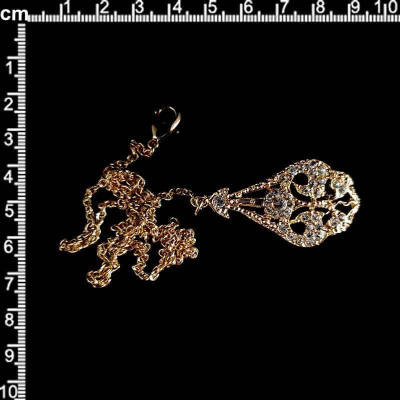 Abaniquero 13957, cristal, oro.