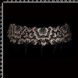 Peineta castellonera 2302, esmeralda-cristal, plata óxido.