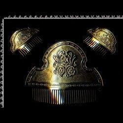 Peineta de fallera, T3F, oro.