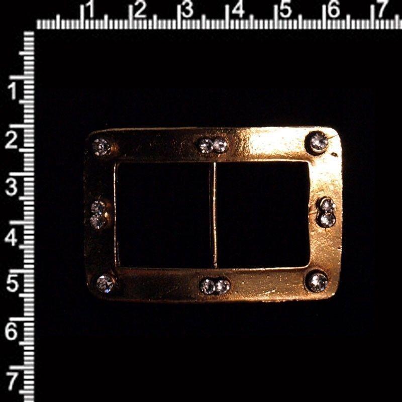 Hebilla 534, cristal, oro viejo marrón.