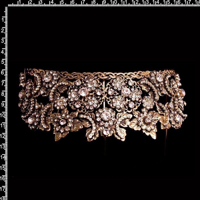 Peineta castellonera 2005, cristal, oro viejo negro.