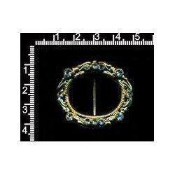 Hebilla 1057, cristal, oro.