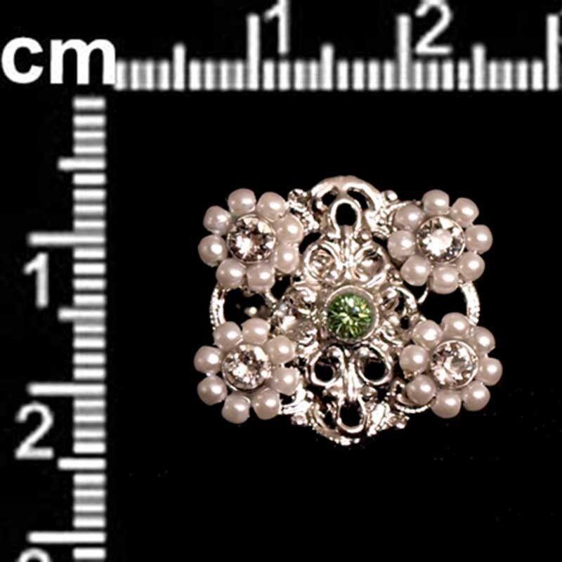 Sortija 9709, peridot-cristal, rodio.