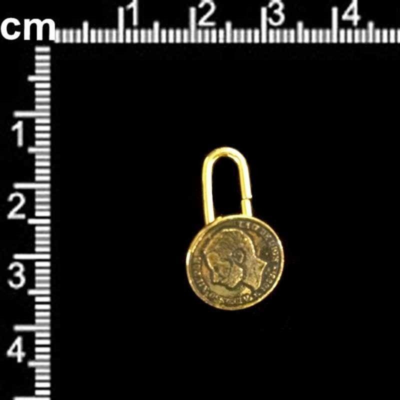 Botón 3167 Alfonso, anilla, oro viejo negro.