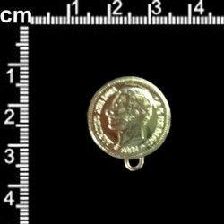 Botón 3166, Alfonso XII, anilla, oro.