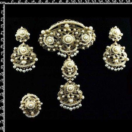 Aderezo 997, perla natural, oro