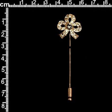 Aguja 236, black diamond, oro.