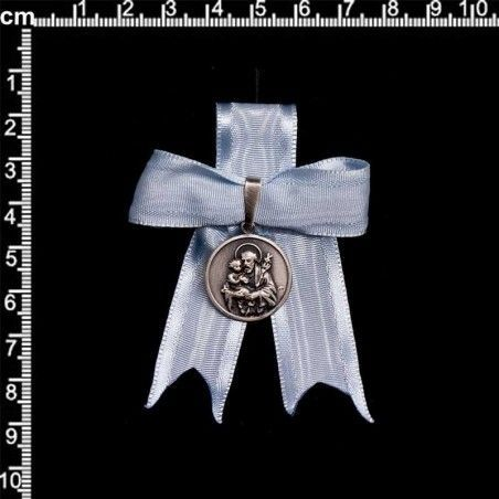 Caramba San José 20 mm, plata óxido, celeste.