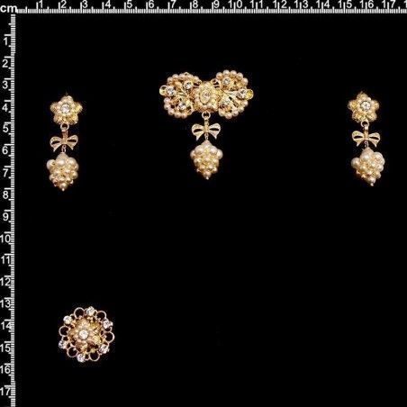 Aderezo de valenciana 7009, cristal, oro.