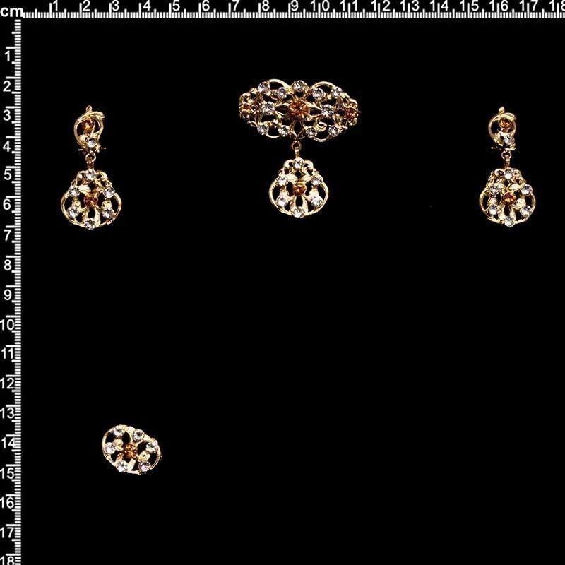Aderezo de valenciana 2304, topacio, oro.