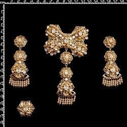 Aderezo de valenciana 6007, cristal, oro.