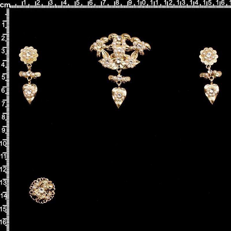 Aderezo de valenciana 9903, cristal, oro.