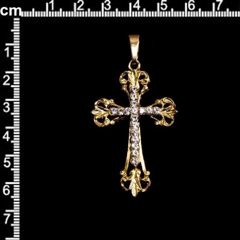 Cruz 13165, cristal, oro.