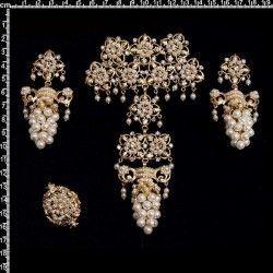 Aderezo de valenciana 104, racimo, cristal, oro.