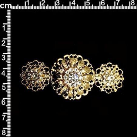 Broche 2101, cristal, oro