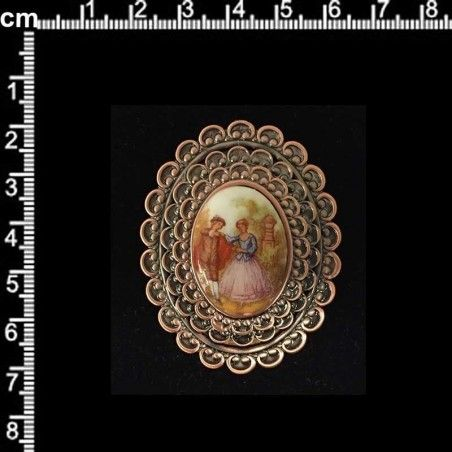 Colgante 2817, románticos, cobre óx.