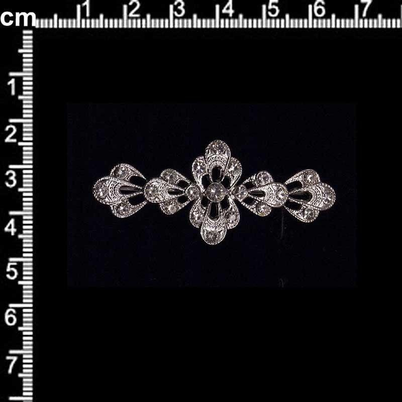 Broche 2302, cristal, rodio.