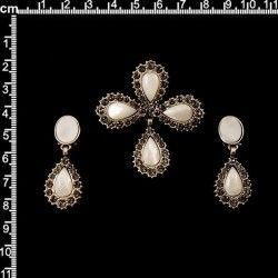 Aderezo de huertana 254, nácar, black diamond, plata óxido.