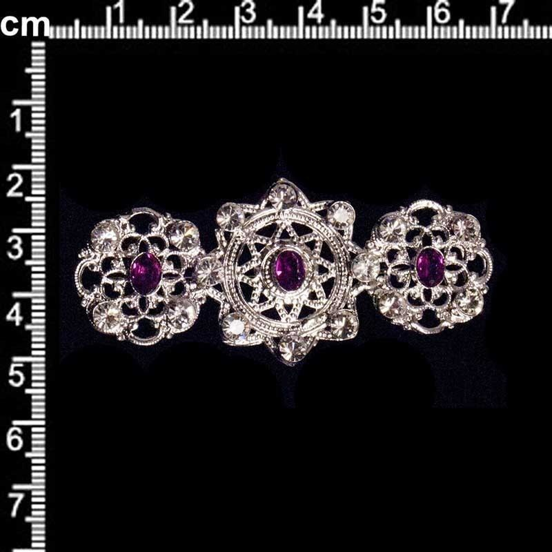 Broche mantilla 9704, amatista, rodio.