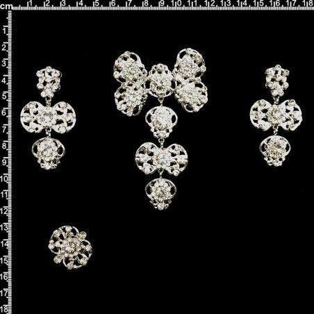 Aderezo de valenciana 2305, cristal, plata.