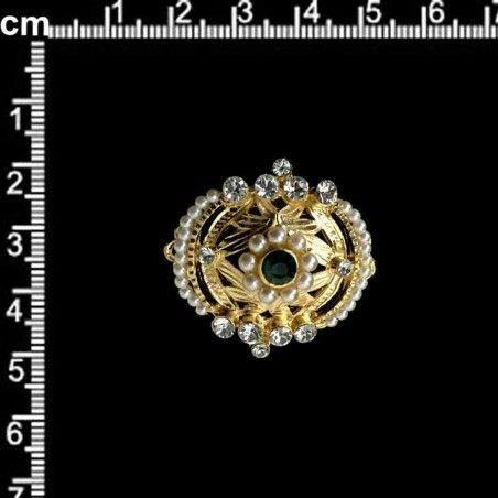 Hebilla 996, esmeralda, oro.