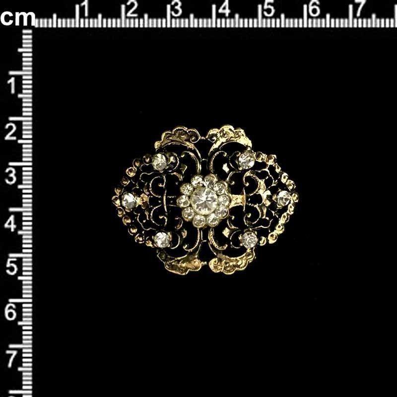 Hebilla 11122, cristal, oro viejo.