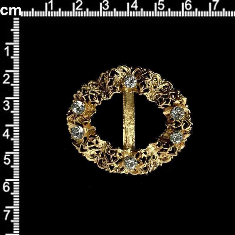 Hebilla 188, cristal, oro.