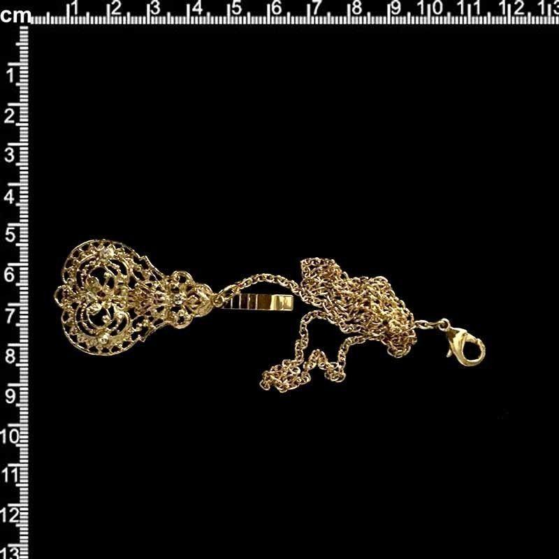 Abaniquero 2898, cristal, oro