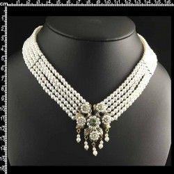 Collar 9205, 1 centro, 5 vueltas, black diamond, latón óxido.